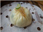 Shanghai steamed dumpling with ginger infused vinegar