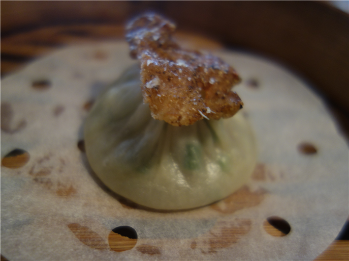 soup dumpling with duck skin