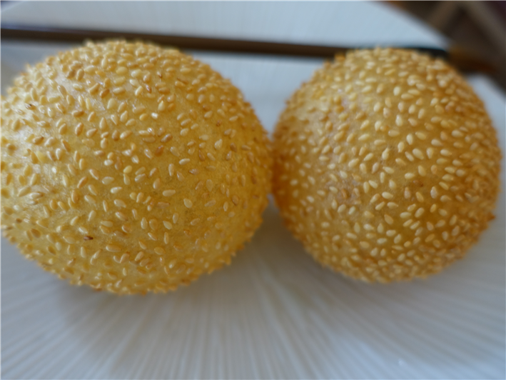 aerated sesame puffs