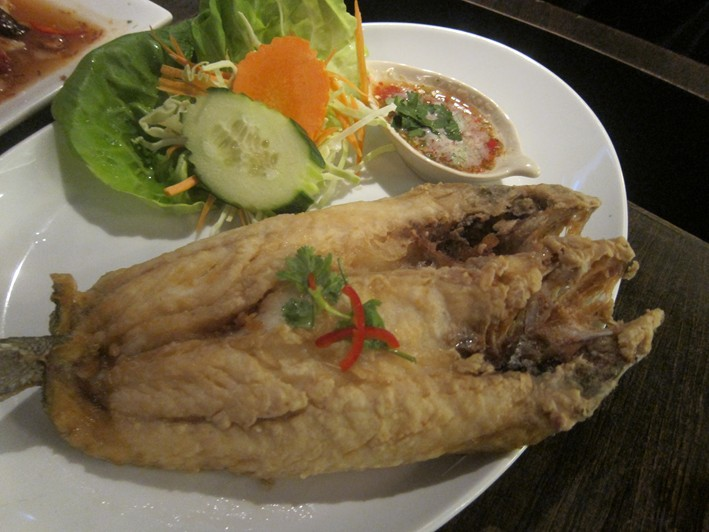 fried sea bass
