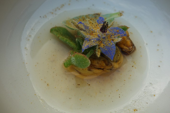 mussels with chicory
