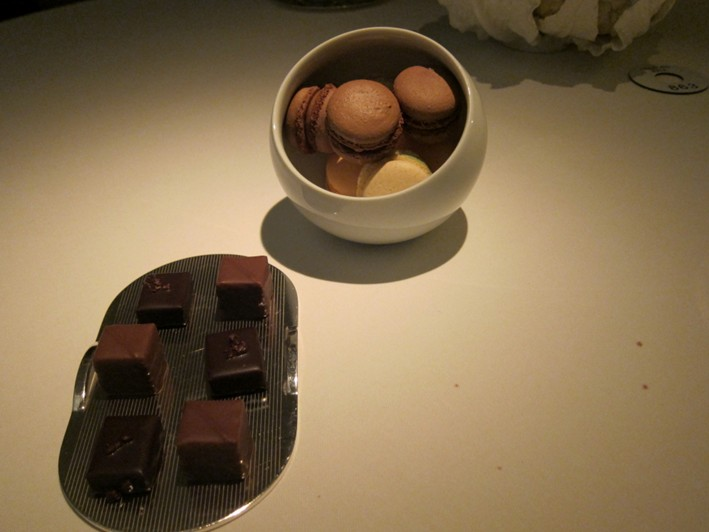 chocolates and macaroons