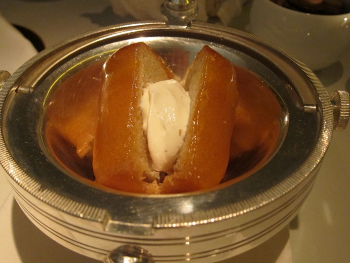 rum baba with chantilly cream
