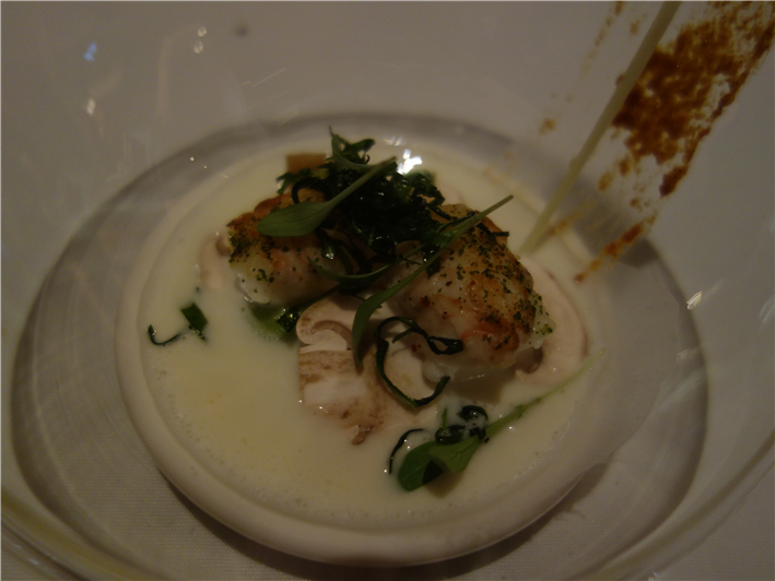 langoustine in Asian broth