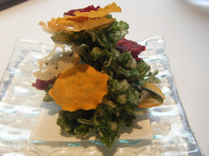 herb and vegetable crisps