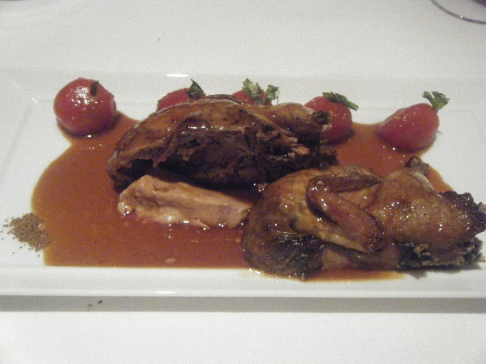 quail with tomatoes