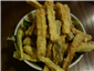 fried courgette strips