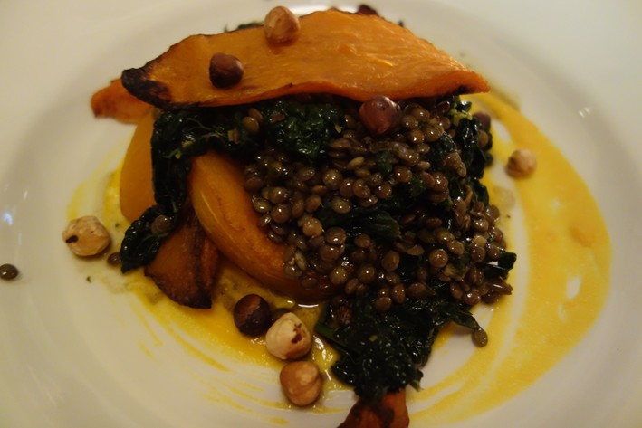pumpkin and lentils