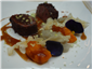 saddle of venison with cocoa beans