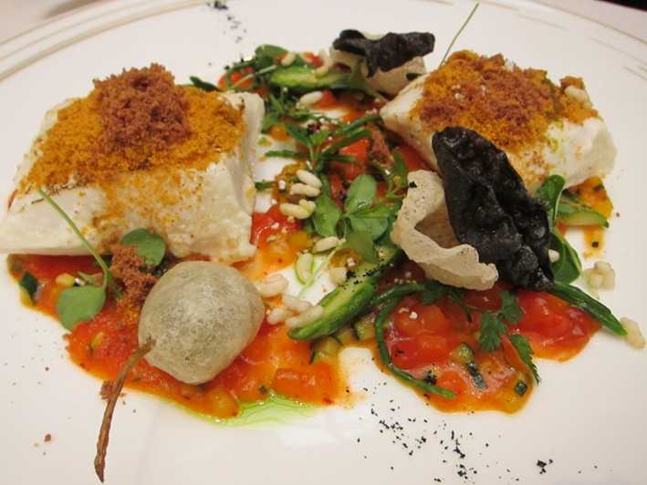 halibut dish
