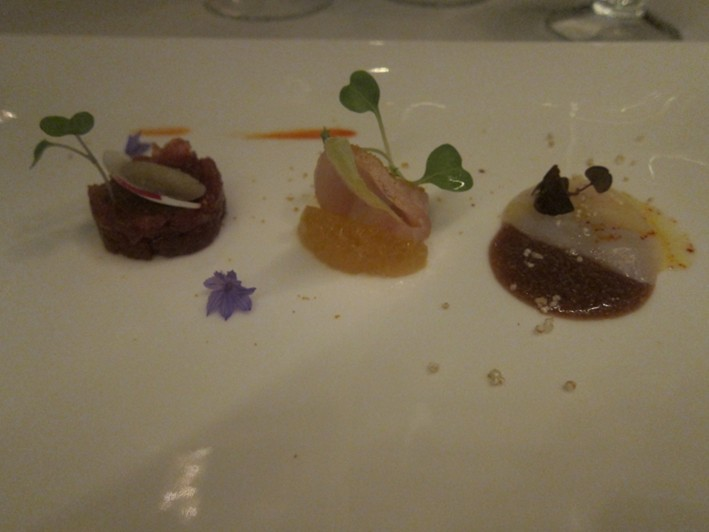 trio of carpaccio