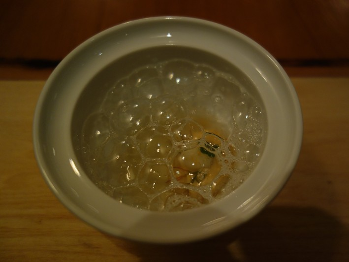 sea urchin with yuzu