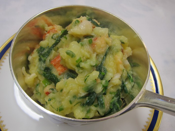 lobster colcannon