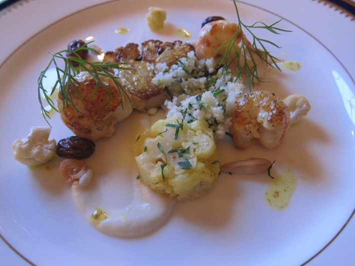 prawns with cauliflower