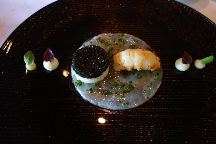 langoustine and caviar