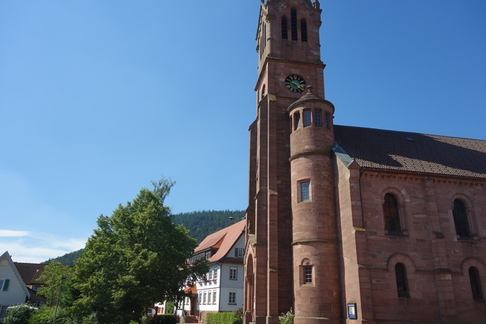 nearby church