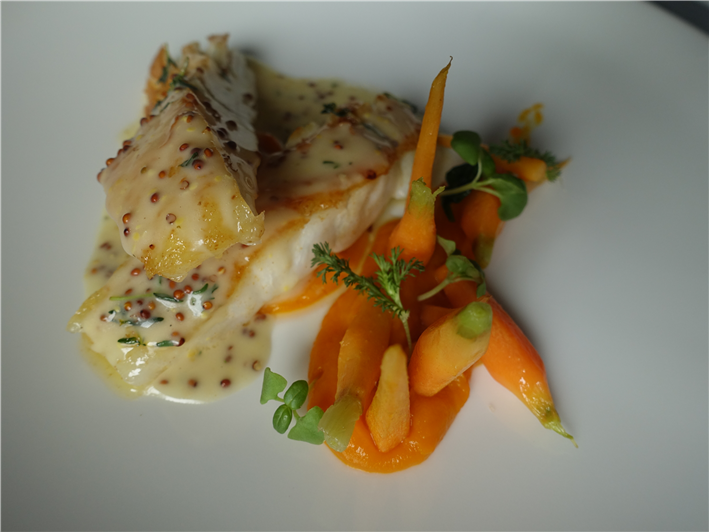 wild turbot with carrots
