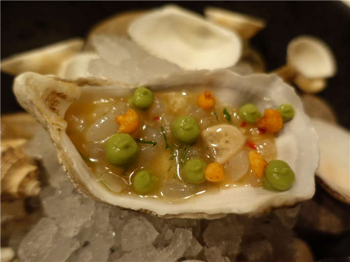 oyster and sea bream chaat