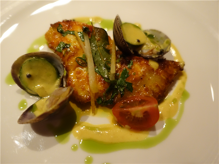 turbot and clam moilee