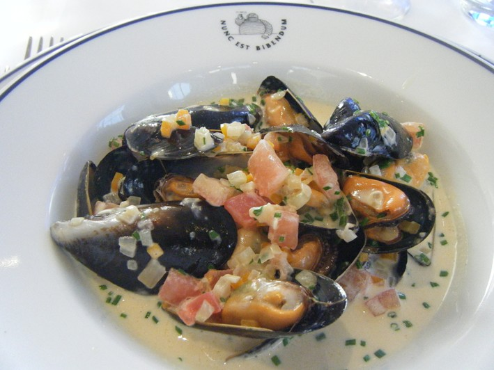 feuillete of prawns skate and mussels
