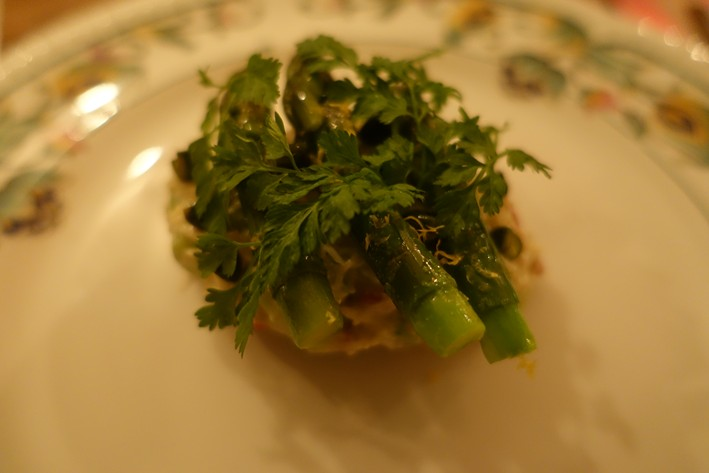 crab and asparagus