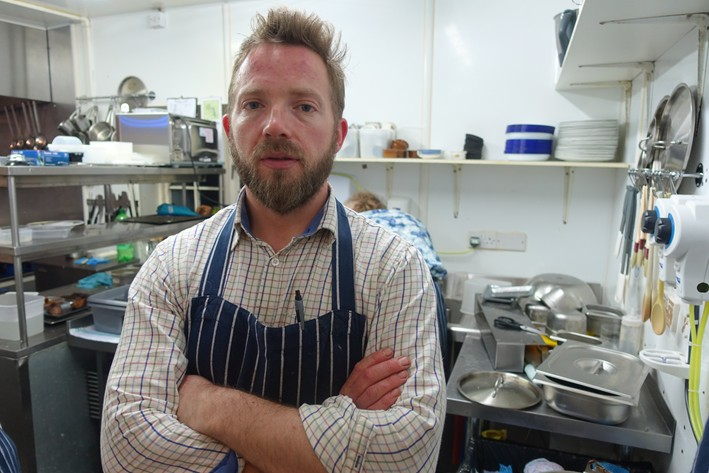 head chef Dominic Robinson