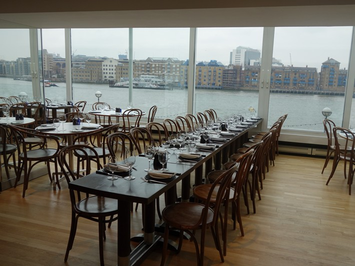 Blueprint cafe restaurant review 2013 january london british coley dining room view 1 malvernweather