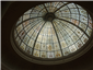 domed glass ceiling in lobby area