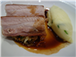pork belly with cabbage and champ