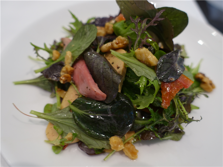 pigeon and foie gras salad