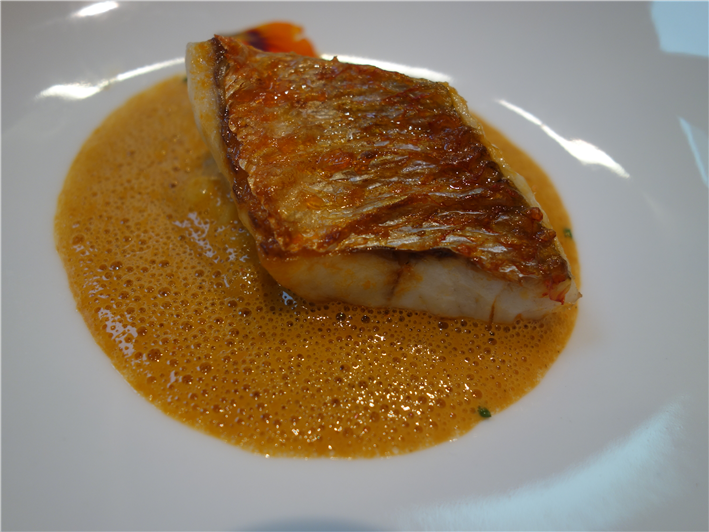 red mullet with bouillabaisse