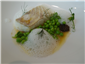 turbot and peas