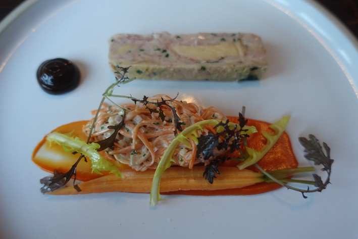 coleslaw and terrine