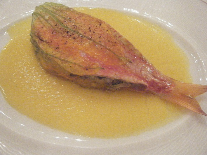 red mullet with aubergine