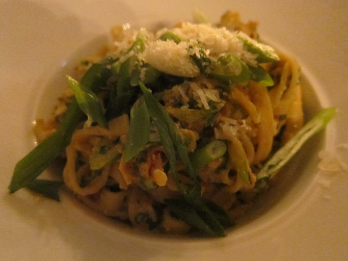 linguine with crab