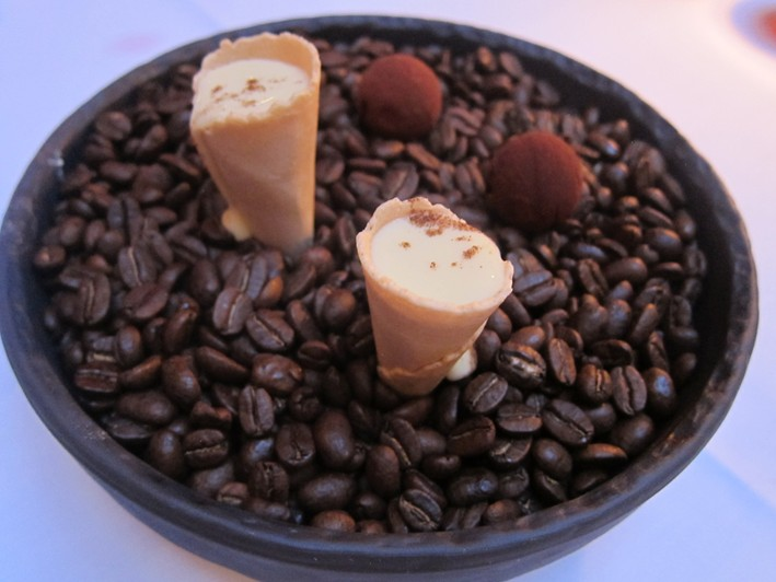 sherry cones and truffles