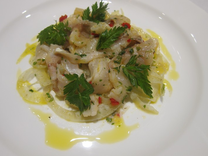 marinated sea bass with fennel