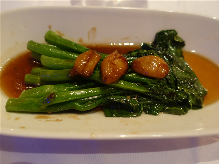gai lan with garlic
