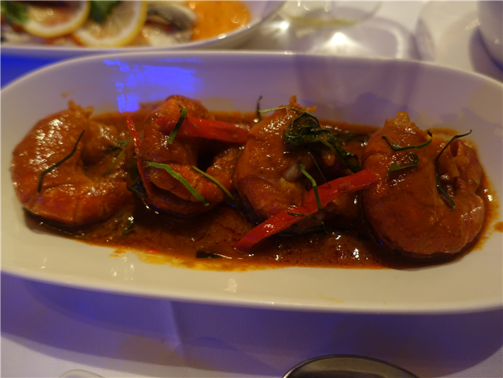 red tiger prawn curry