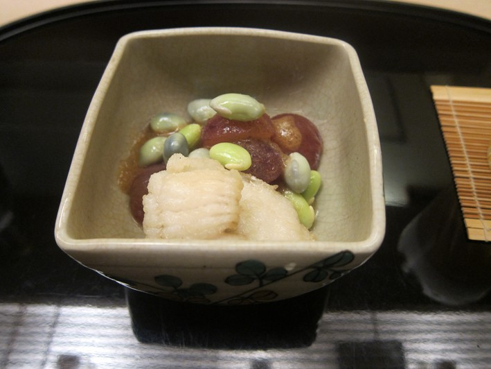 sea eel with grapes