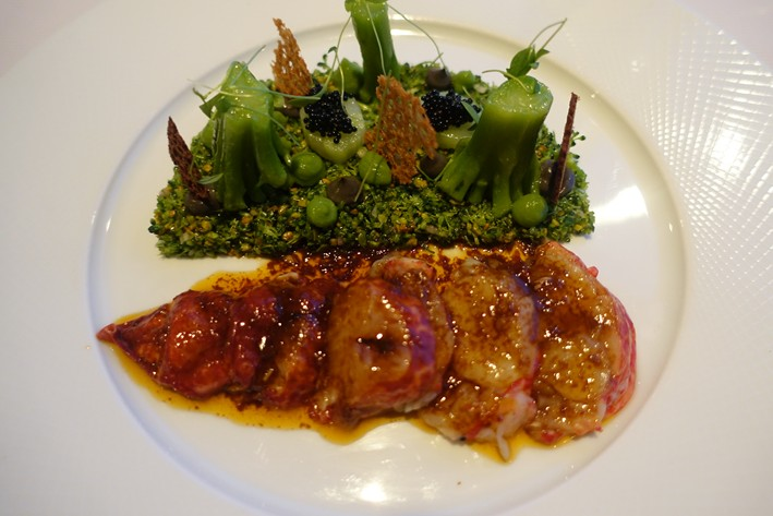 lobster tartare and broccoli