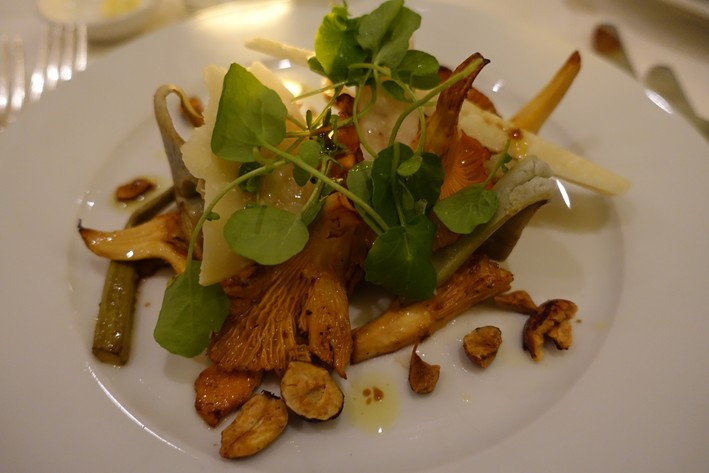 artichokes and girolles