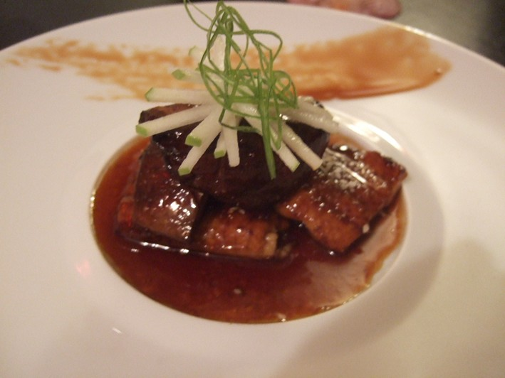 eel with foie gras