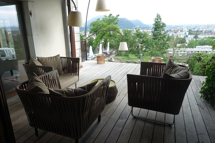 terrace seating