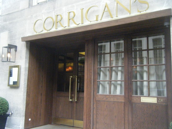 entrance; outside & Corrigan\u0027s Mayfair restaurant review 2010 July London | British ...