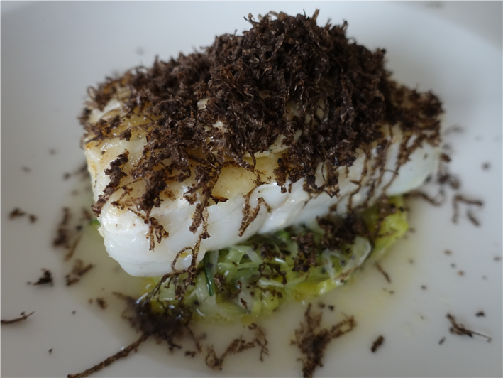 brill with truffle