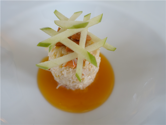 crab with apple batons