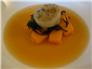 squash with scallop and bouillon