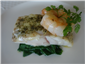 turbot with spinach