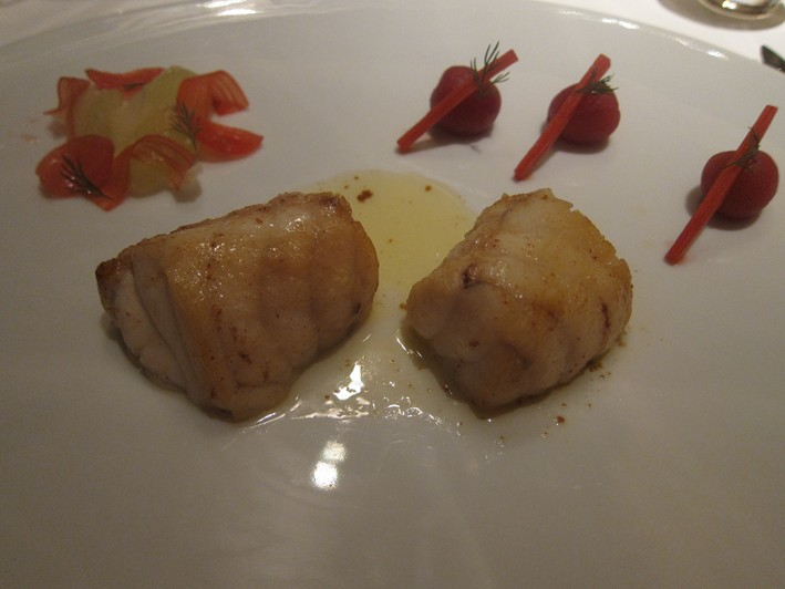 monkfish plated